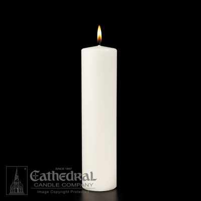 white christ candle