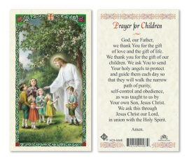 HC9-556E Prayer for Children Holy Cards