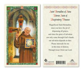 HC9-575E St. Bernadine of Siena Holy Cards