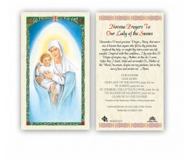 HC9-OLSE Our Lady of the Snows Holy Cards