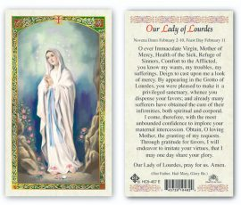 hC9-457e Our Lady of Lourdes Holy Cards