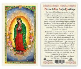 hC9-489e Our Lady of Guadalupe Holy Cards