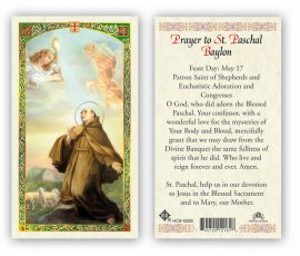hC9-500e St. Paschal Holy Cards