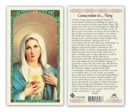 Consecration to Mary Holy Cards