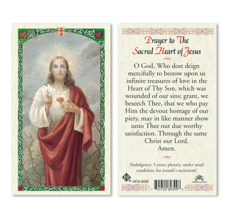 Sacred Heart Prayer Cards