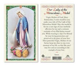 Miraculous Medal Holy Cards