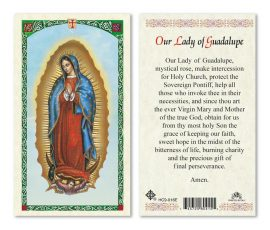 hc9-016e Our Lady of Guadalupe Holy Cards