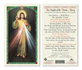 hc9-021e Divine Mercy Chaplet Holy Cards