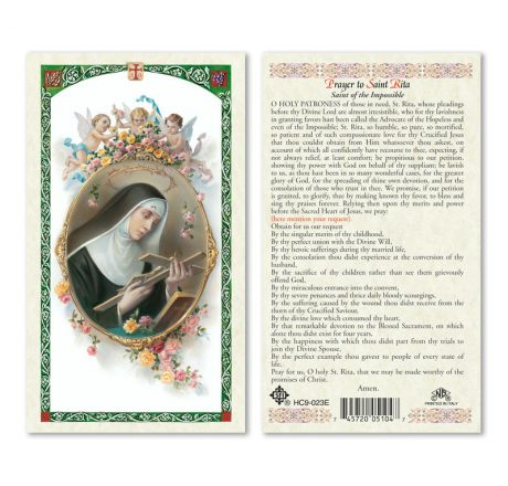 hc9-023e St. Rita Holy Cards