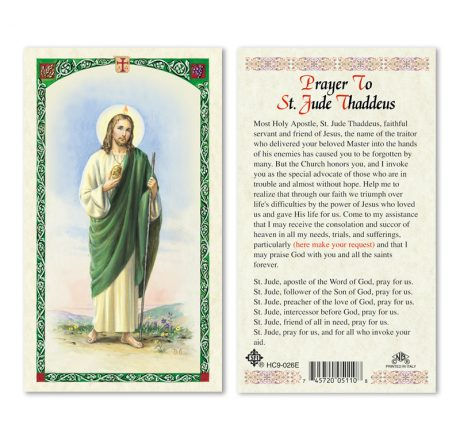 hc9-026e St. Jude Holy Cards