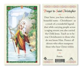 hc9-027e St. Christopher Holy Cards