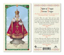 hc9-029e Infant of Prague Holy Cards