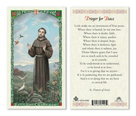 hc9-034e St. Francis of Assisi Holy Cards