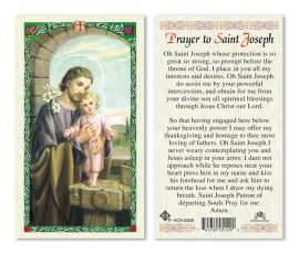 hc9-036e St. Joseph Holy Cards