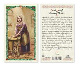 hc9-037e St. Joseph the Worker Holy Cards