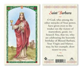 hc9-040e St. Barbara Holy Cards