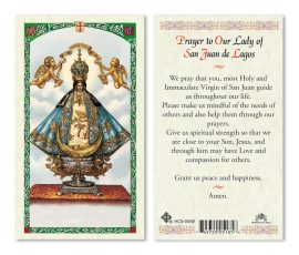 HC9-065E Our Lady of San Juan Holy Cards