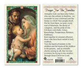 hc9-076e Prayer for Families Holy Cards