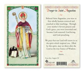 hc9-100e St. Augustine Holy Cards