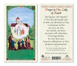 hc9-112e Our Lady of Knock Holy Cards