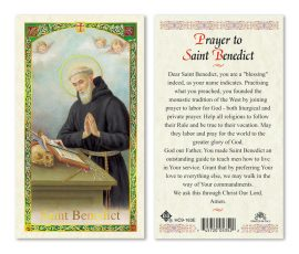 hc9-163e St. Benedict Holy Cards