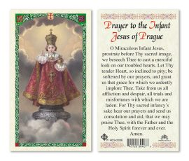 hc9-233e Infant of Prague Holy Cards