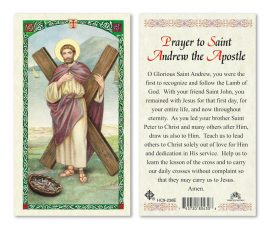 hc9-236e St. Andrew Holy Cards