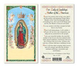 hc9-253e Our Lady of Guadalupe Holy Cards