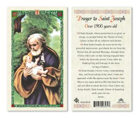 hc9-261e St. Joseph Holy Card