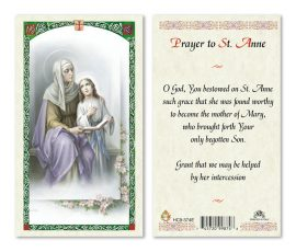 hc9-374e St. Anne Holy Cards