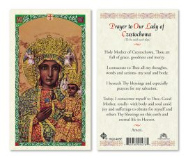 hc9-405e Our Lady of Czestochowa Holy Cards