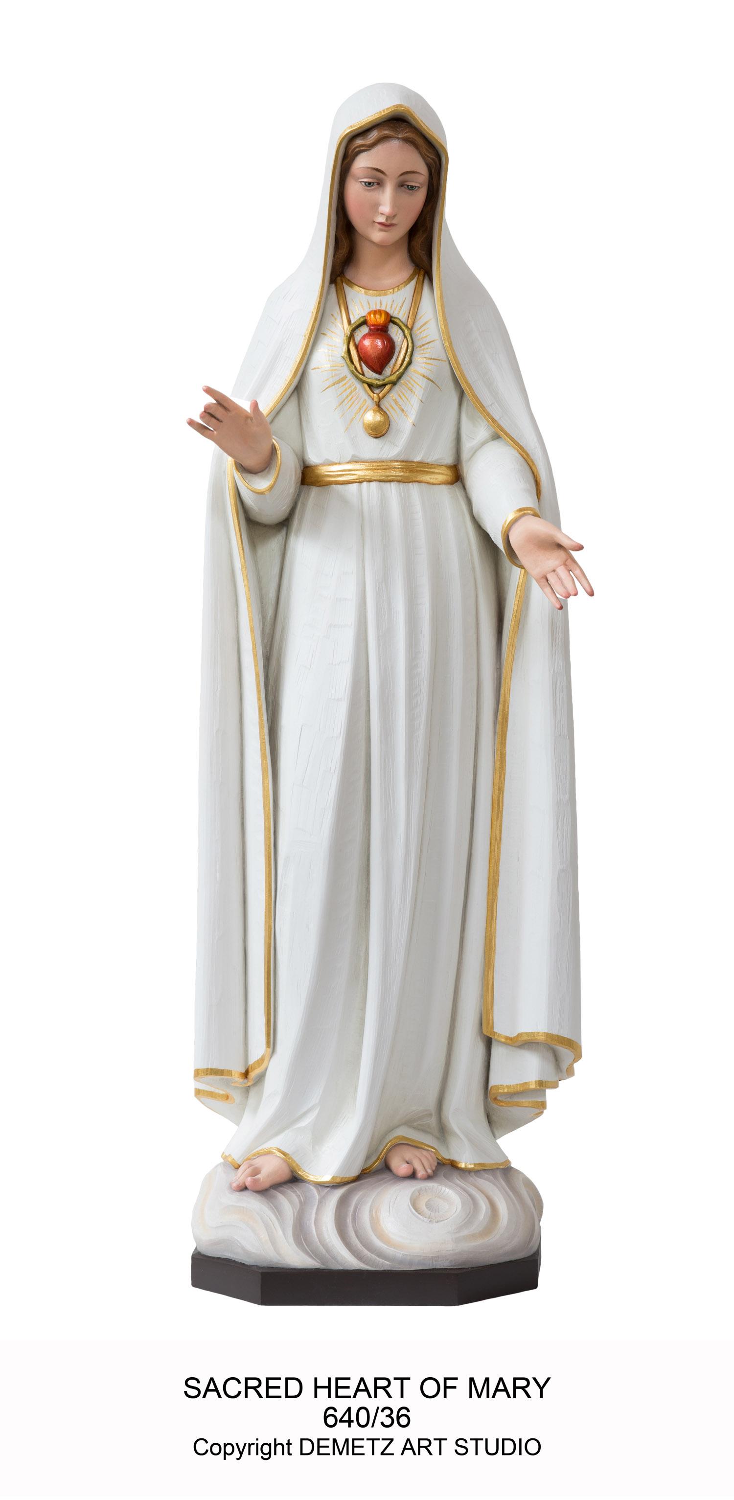 Mary Statue Sacred Heart Of Mary 640 36 Mckay Church