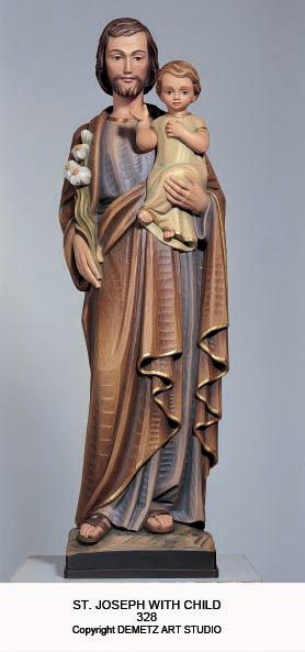 St Joseph With Child Statue 328 Mckay Church Goods