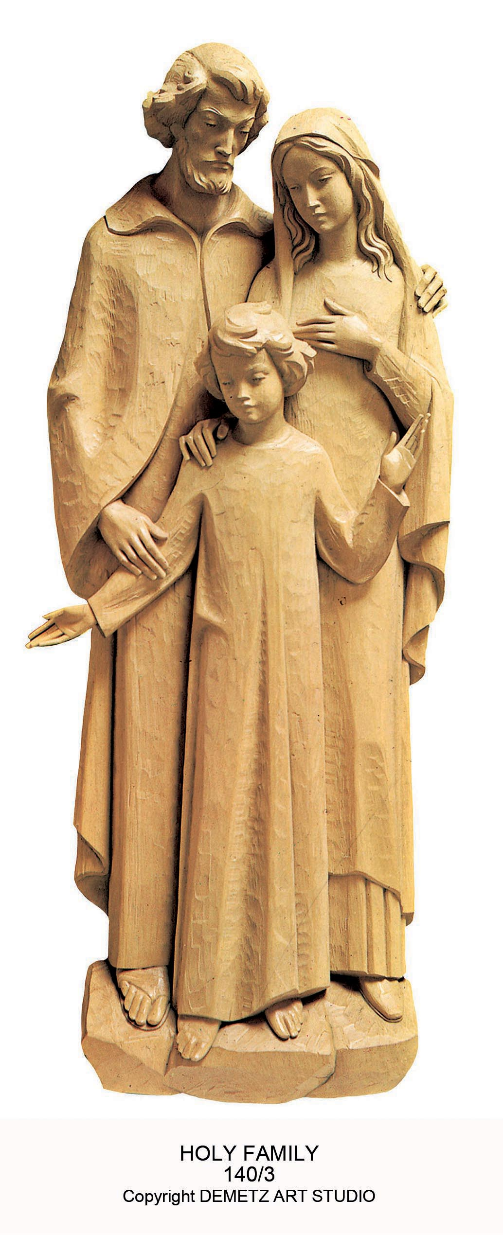 Holy Family 3 4 Relief Statue 140 3 Mckay Church Goods