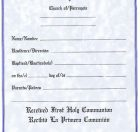 First Communion Certificate Bilingual