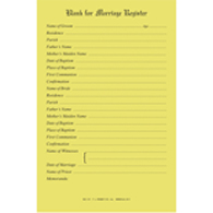 Marriage Register Blanks