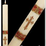 Red Paschal Candle