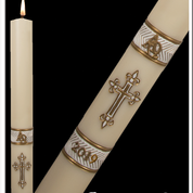 Gloria White Paschal Candle