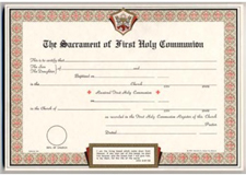1044 First Communion Certificates